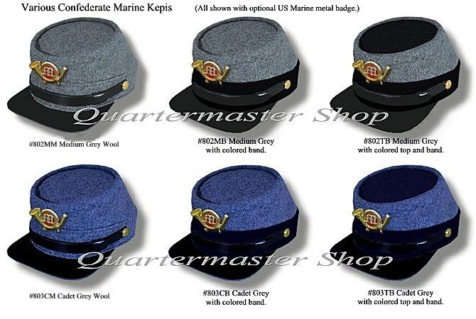 91bbc2abe0c Quartermaster Shop s Confederate Marine Enlisted Kepi