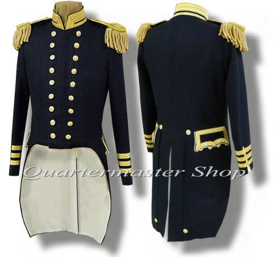 Quartermaster Shop S 1852 Union Naval Officer Tailcoat